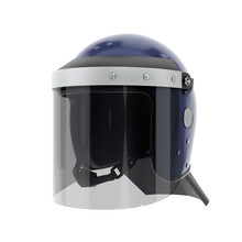 Police Riot Helmet With Closed...