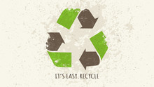 Recycle Sign Grunge Style Vect...