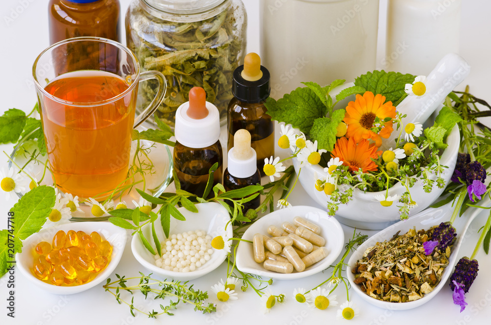 Fototapety, obrazy: Alternative Medicine. Herbal Therapy.