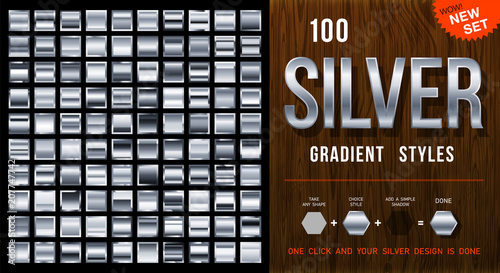Photo  100 vector silver gradient styles