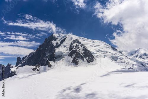 Spoed Foto op Canvas Alpen Majestic scenery of the Mont Blanc massif in June. Alps.