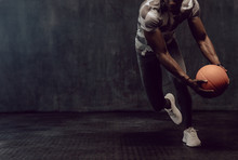 Man Training With Basketball