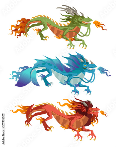 Photo  elements chinese dragons