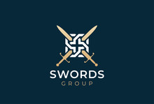 Crossed Swords Logo Icon. Swor...