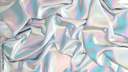Aluminium Prints Fabric Abstract digital fabric. Sci-fi background. Holographic foil. Illustration