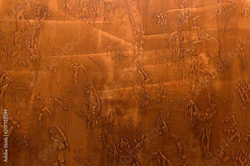 Fotobehang Stof Red plaster texture close up cereal aging,