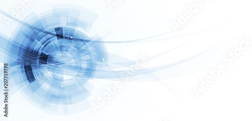 Obraz Digital technology world. Business virtual concept. Vector background - fototapety do salonu