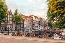 Sunrise On The Streets And Canals Of Amsterdam