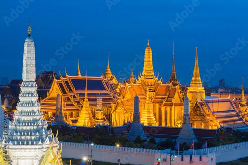 Grand palace at twilight in Bangkok, Thailand Canvas Print