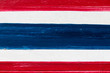 Red, white and blue color wood textured background (Concept for thai flag)