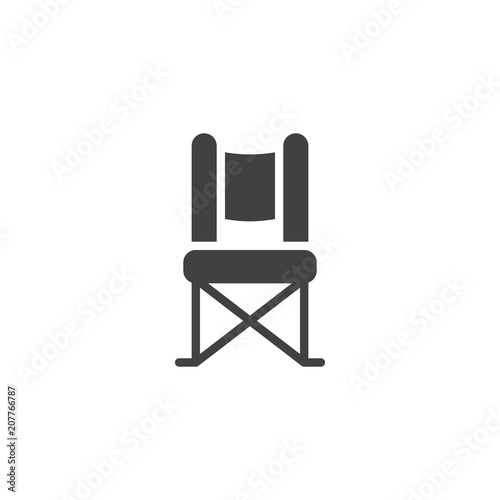 Awesome Camping Chair Vector Icon Filled Flat Sign For Mobile Ncnpc Chair Design For Home Ncnpcorg