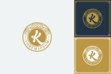 Letter K Luxury Monogram Logo ...