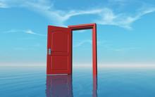 Opened Door In The Ocean