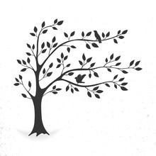 Illustration Tree With Leaves ...