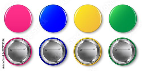 Fotografía Pin button vector set
