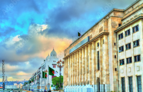 In de dag Algerije National Assembly of Algeria in Algiers, the capital