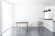 Leinwandbild Motiv Concrete floor dining room interior
