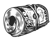 Vintage Money Roll Template