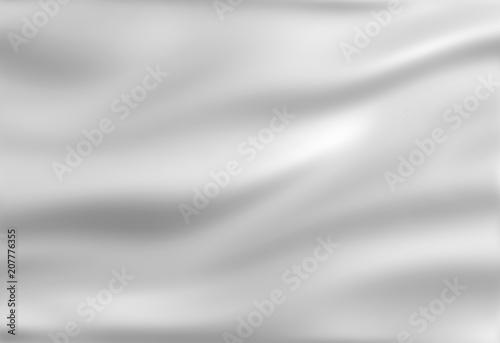 Fotografie, Obraz  White wavy background, 3D