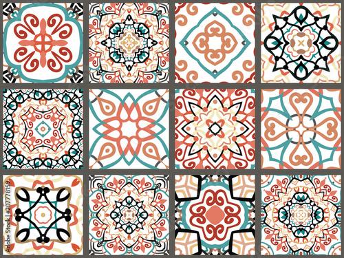 Printed kitchen splashbacks Moroccan Tiles Arabic decorative tiles