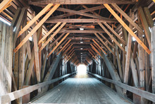 Looking Through A Covered Bridge