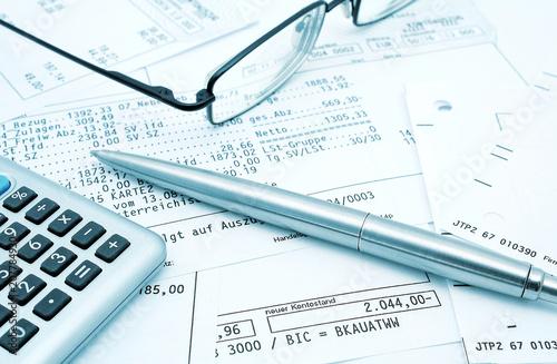 Plakaty do biura rachunkowego bankbelege-uberprufen