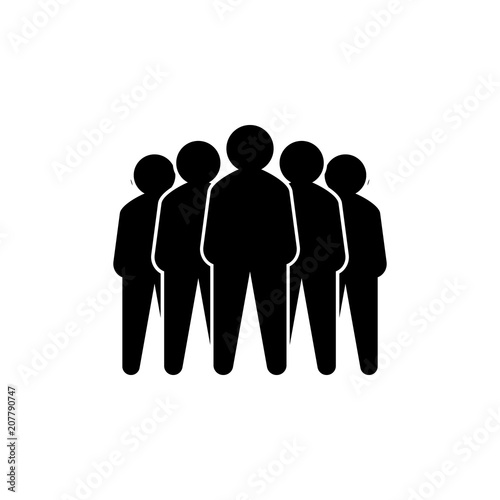 Photo Representative of a group of people, leadership vector illustration concept