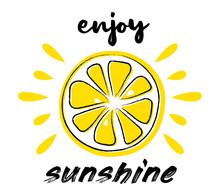 Juicy Lemon. Summer Poster - H...