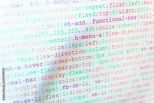 Python programming developer code  Creative focus effect  Software
