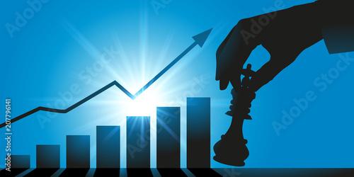Foto stratégie - croissance - atout - entreprise - concept - gagner - homme d'affaire