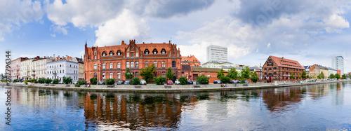 Obraz Panoramiczny pejzaż Bydgoszczy, Polska - fototapety do salonu