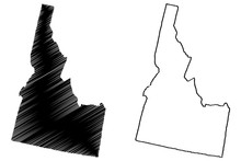 Idaho Map Vector Illustration,...