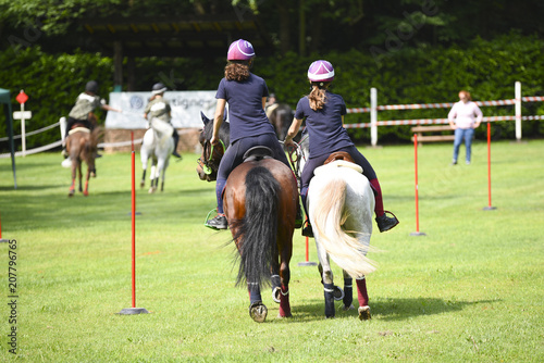 Poster Equitation mounted games