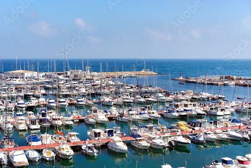 In de dag Poort El Campello harbor. Alicante, Spain