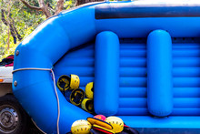 Raft With Helmets For Safety W...