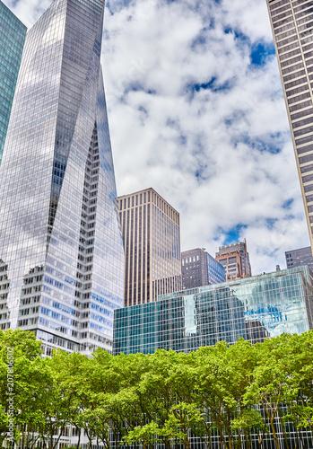 Fotobehang New York City Manhattan modern architecture mixed with nature, New York City, USA.