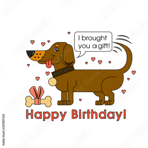 Photo  Happy Birthday card for dog lover