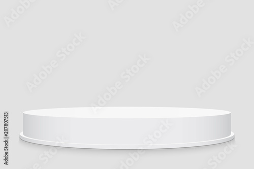 Creative vector illustration of 3d round stage podium set isolated on transparent background Wallpaper Mural