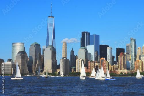 Plakat World Financial Center i Battery Park w Nowym Jorku