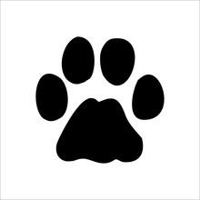 Bobcat Footprints Icon. Vector...