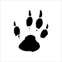 Woodchuck Footprints Icon. Vec...
