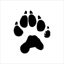 Wolverine Footprints Icon. Vector Illustration