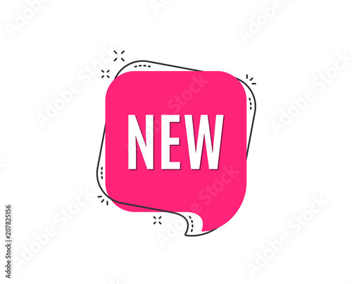 New symbol. Special offer sign. New arrival. Speech bubble tag. Trendy graphic design element. Vector Wall mural