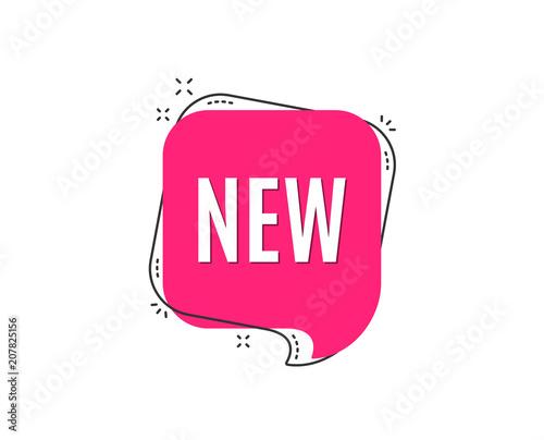 Fototapeta New symbol. Special offer sign. New arrival. Speech bubble tag. Trendy graphic design element. Vector obraz