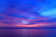 canvas print picture - Beautiful sky at twilight time