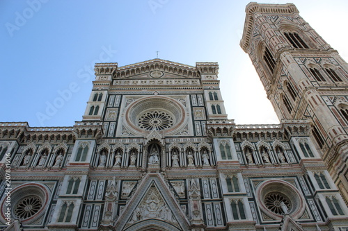 Fotobehang Florence rosette and facades of the cathedral in Florence