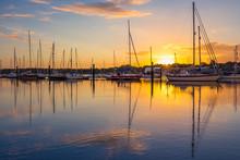 Sunrise In Southampton Marina