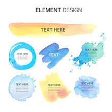 Watercolor, Text Box Bubbles E...