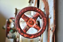 Old Rusty Safety Shut Off Valve