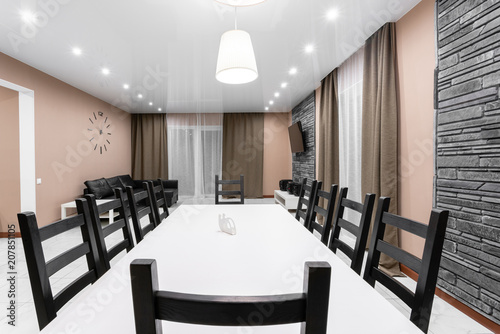 Dining Table For Ten People Modern Minimalism Style Drawing Room